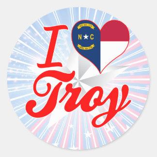 Amo Troy, Carolina del Norte Etiqueta