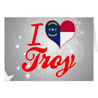 Amo Troy, Carolina del Norte Felicitacion