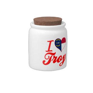Amo Troy, Carolina del Norte Jarras Para Caramelos