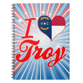 Amo Troy, Carolina del Norte Libreta