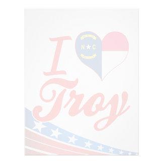 Amo Troy, Carolina del Norte Membrete