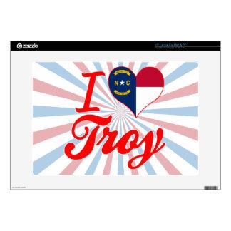 Amo Troy, Carolina del Norte Skins Para 38,1cm Portátil