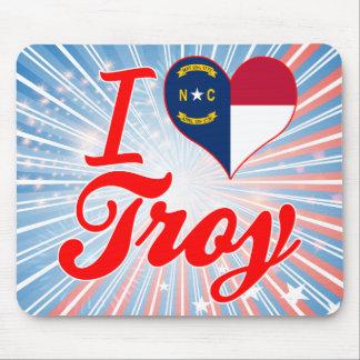 Amo Troy, Carolina del Norte Tapetes De Ratón