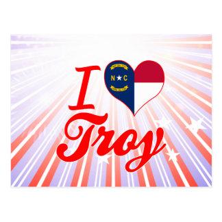 Amo Troy, Carolina del Norte Tarjeta Postal