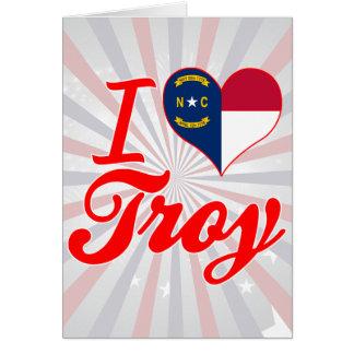 Amo Troy, Carolina del Norte Tarjeton