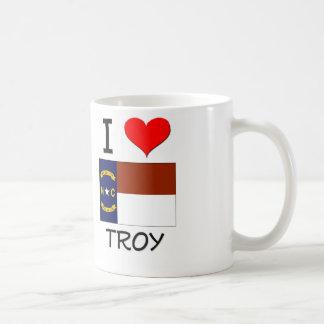 Amo Troy Carolina del Norte Tazas De Café