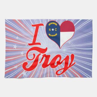 Amo Troy, Carolina del Norte Toallas De Cocina