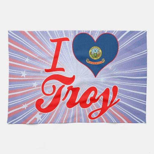 Amo Troy, Idaho Toallas De Cocina