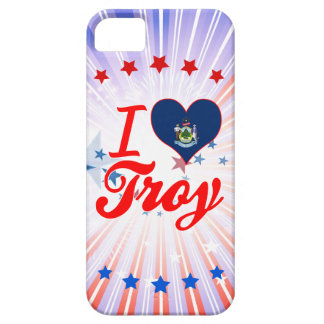 Amo Troy, Maine Funda Para iPhone 5 Barely There