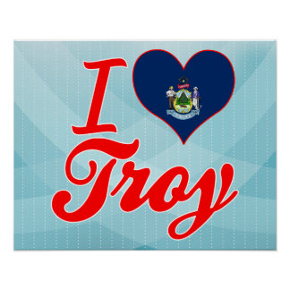 Amo Troy, Maine Póster