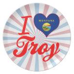 Amo Troy, Montana Plato De Comida