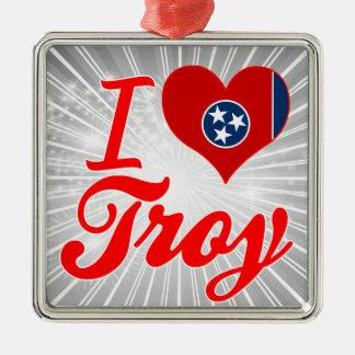 Amo Troy, Tennessee Adorno Cuadrado Plateado