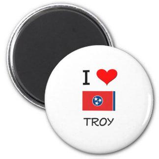Amo Troy Tennessee Imán Redondo 5 Cm