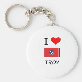 Amo Troy Tennessee Llavero Redondo Tipo Pin