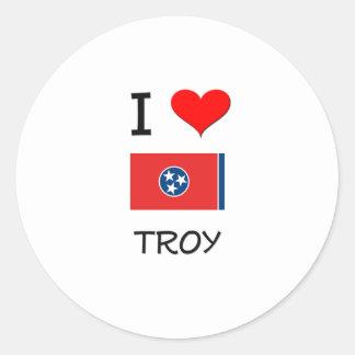 Amo Troy Tennessee Pegatina Redonda