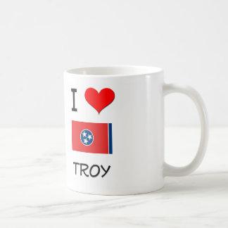 Amo Troy Tennessee Taza Básica Blanca