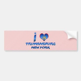 Amo Trumansburg, Nueva York Pegatina De Parachoque