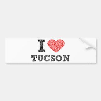 Amo Tucson Pegatina De Parachoque