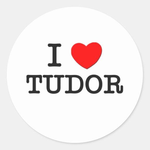 Amo Tudor Massachusetts Pegatinas Redondas