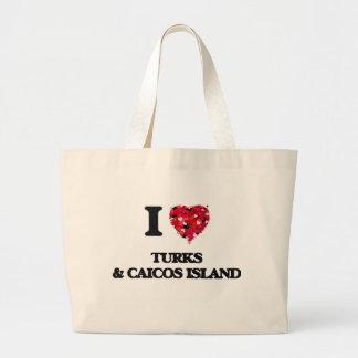 Amo turcos y la isla de Caicos Bolsa Tela Grande