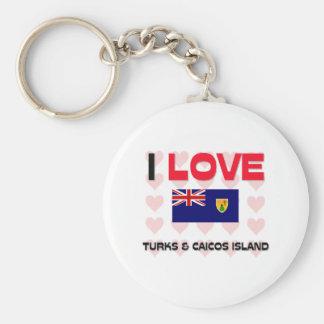 Amo turcos y la isla de Caicos Llavero