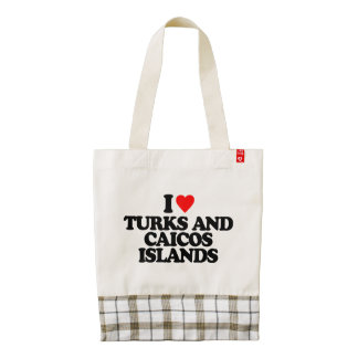 AMO TURKS AND CAICOS ISLANDS BOLSA TOTE ZAZZLE HEART