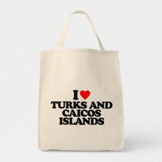AMO TURKS AND CAICOS ISLANDS BOLSA TELA PARA LA COMPRA