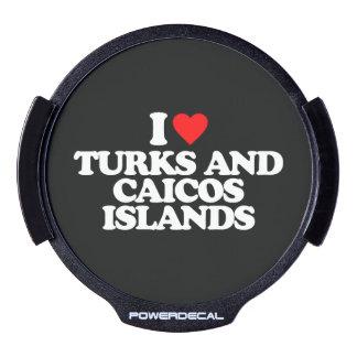 AMO TURKS AND CAICOS ISLANDS STICKER LED PARA VENTANA