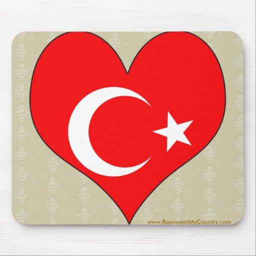 Amo Turquía Alfombrilla De Ratón