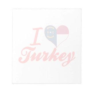 Amo Turquía, Carolina del Norte Bloc De Papel