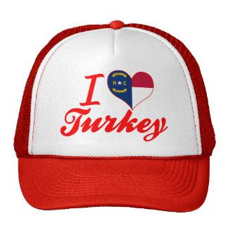 Amo Turquía, Carolina del Norte Gorra