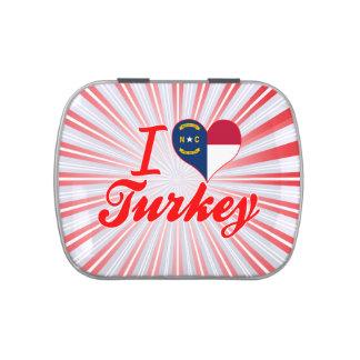 Amo Turquía, Carolina del Norte Jarrones De Caramelos