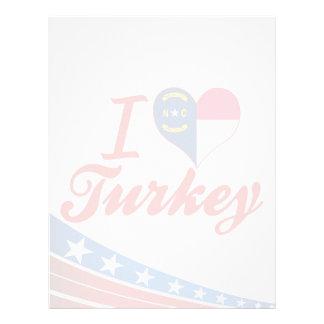 Amo Turquía, Carolina del Norte Membrete