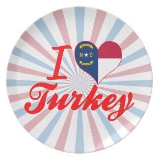 Amo Turquía, Carolina del Norte Plato De Comida