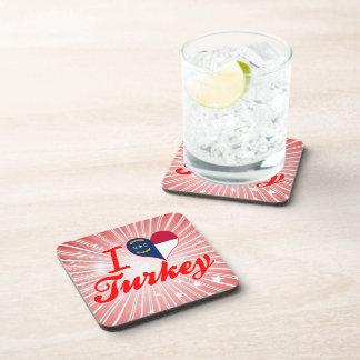 Amo Turquía, Carolina del Norte Posavasos De Bebida