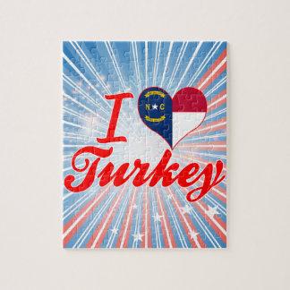 Amo Turquía, Carolina del Norte Puzzles