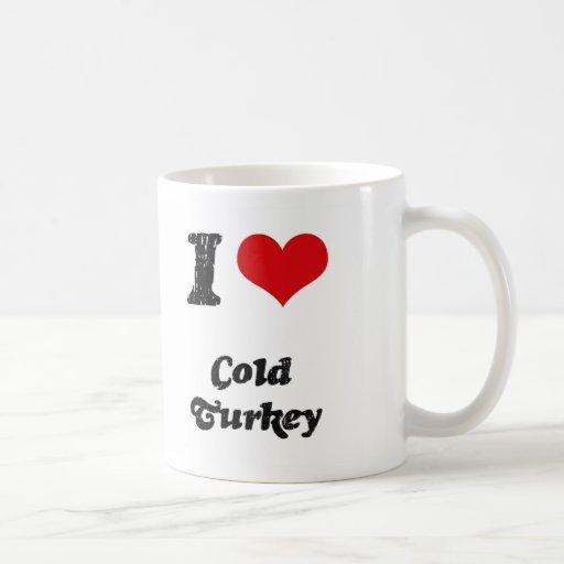 Amo Turquía fría Tazas