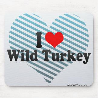 Amo Turquía salvaje Alfombrilla De Ratón