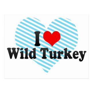 Amo Turquía salvaje Postales