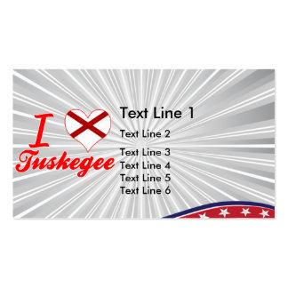 Amo Tuskegee Alabama Plantillas De Tarjeta De Negocio