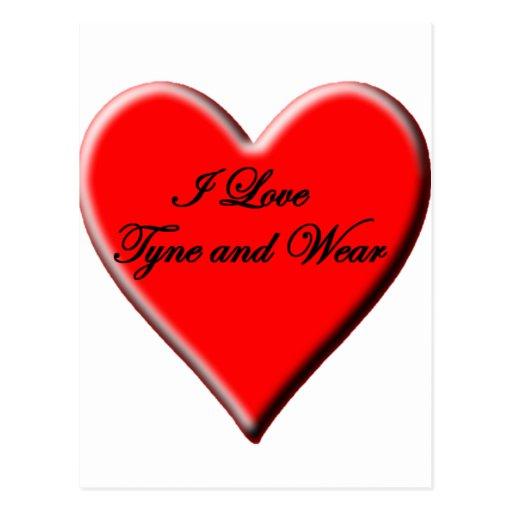 Amo Tyne y desgaste Tarjetas Postales