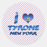 Amo Tyrone, Nueva York Pegatina Redonda