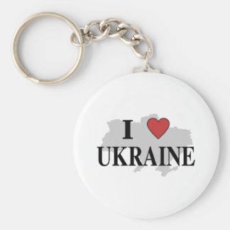 Amo Ucrania Llaveros Personalizados