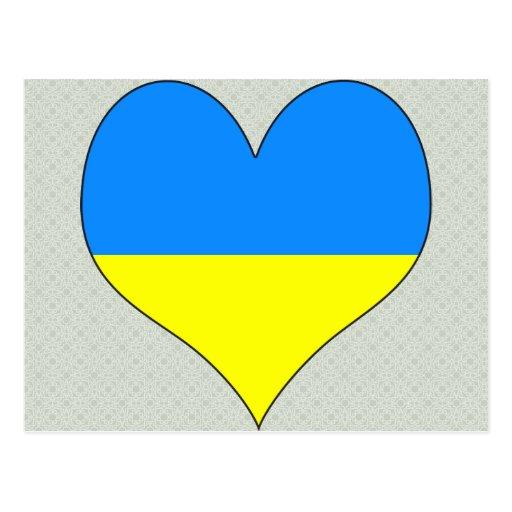Amo Ucrania Tarjeta Postal