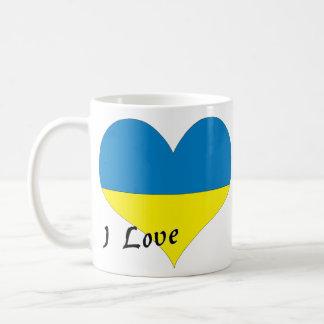 Amo Ucrania Taza