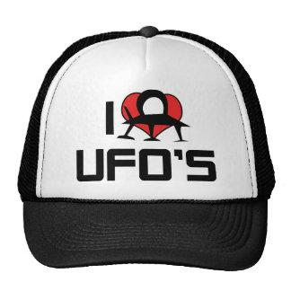 Amo UFO del corazón - amante del extranjero del Gorras De Camionero