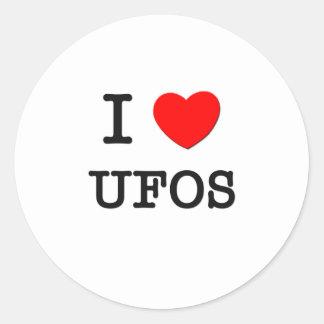 Amo Ufos Pegatinas Redondas