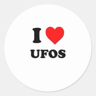 Amo Ufos Etiquetas Redondas