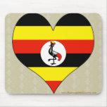 Amo Uganda Alfombrillas De Ratón