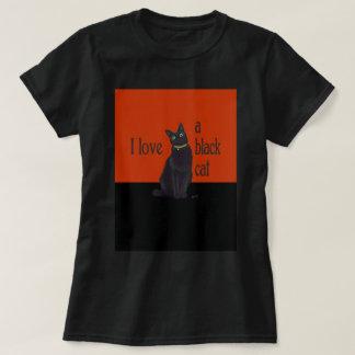 Amo un gato negro remera